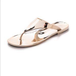 BCBG Sabba Metallic Thong Sandal